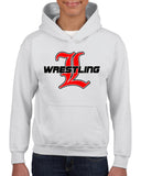 Lakeland Wrestling White Heavy Blend Shirt w/ Lakeland Wrestling Old English