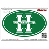 HOPATCONG LOGO V1 Oval Full Color Printed Vinyl Decal Window Sticker