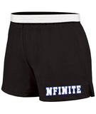 NFINITE OC Chasse Black Practice Knit Shorts w/ NFINITE All Stars Logo on Front.