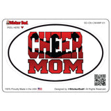 Oval Cheer Mom Jumper V1 Oval Full Color Printed Vinyl Decal Window Sticker