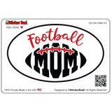 Oval Football Mom V2 Oval Full Color Printed Vinyl Decal Window Sticker