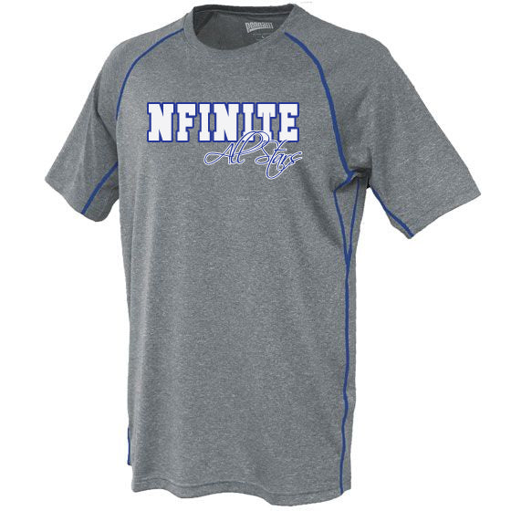 NFINITE Carbon 109 Short Sleeve Tee w/ NFINITE All Stars 2 Color Logo on Front.