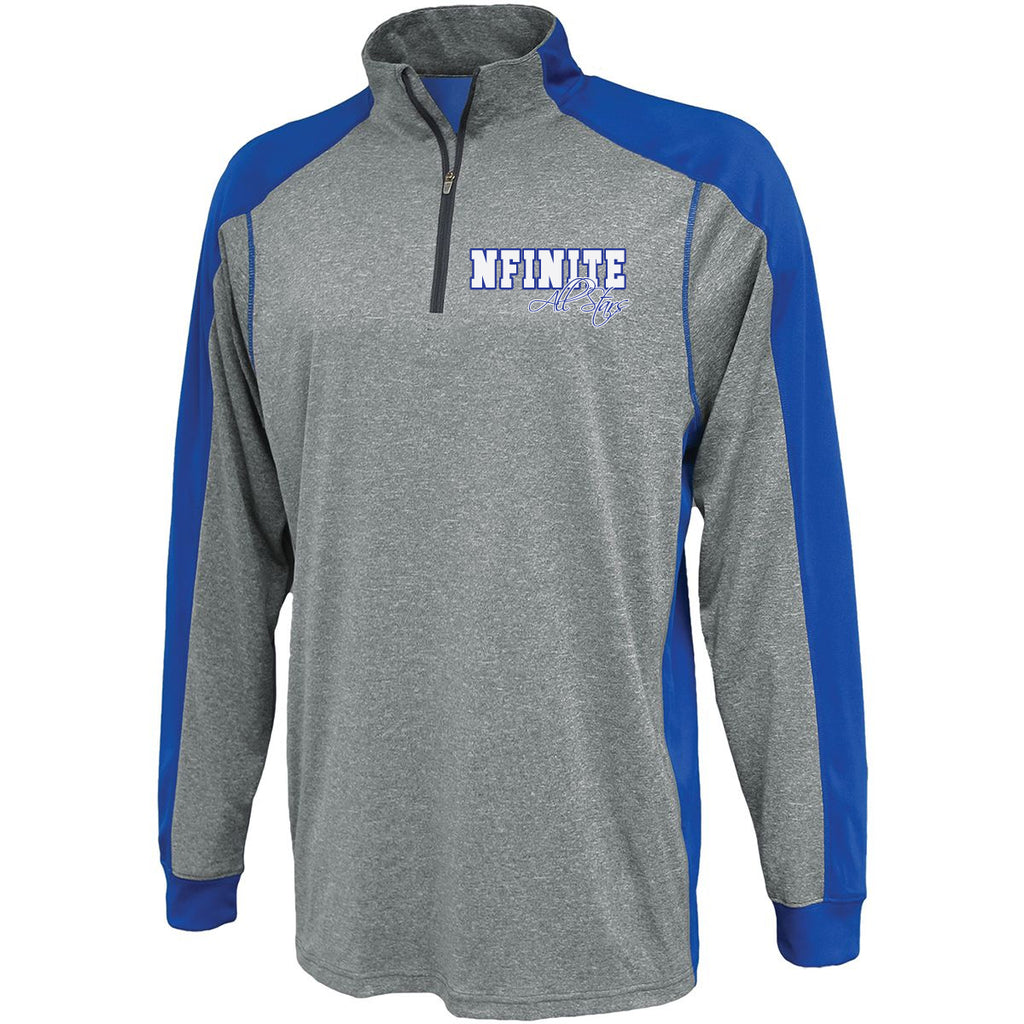 NFINITE Carbon 1126 Warmup Pullover w/ NFINITE All Stars 2 Color Logo on Front.