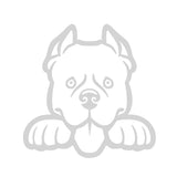 Pitbull Dog Peeking V1 Single Color Transfer Type Decal