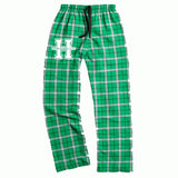 Hopatcong PJ Style Flannel Pants w/ Small Hip Logo Graphic Transfer Design Pants