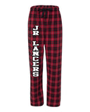 Jr. Lancers Competition Cheer PJ Style Flannel Pants w/ Jr Lancers Logo Down Leg.