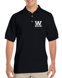 WANAQUE School Black Short Sleeve Polo Sport Shirt w/ WANAQUE School