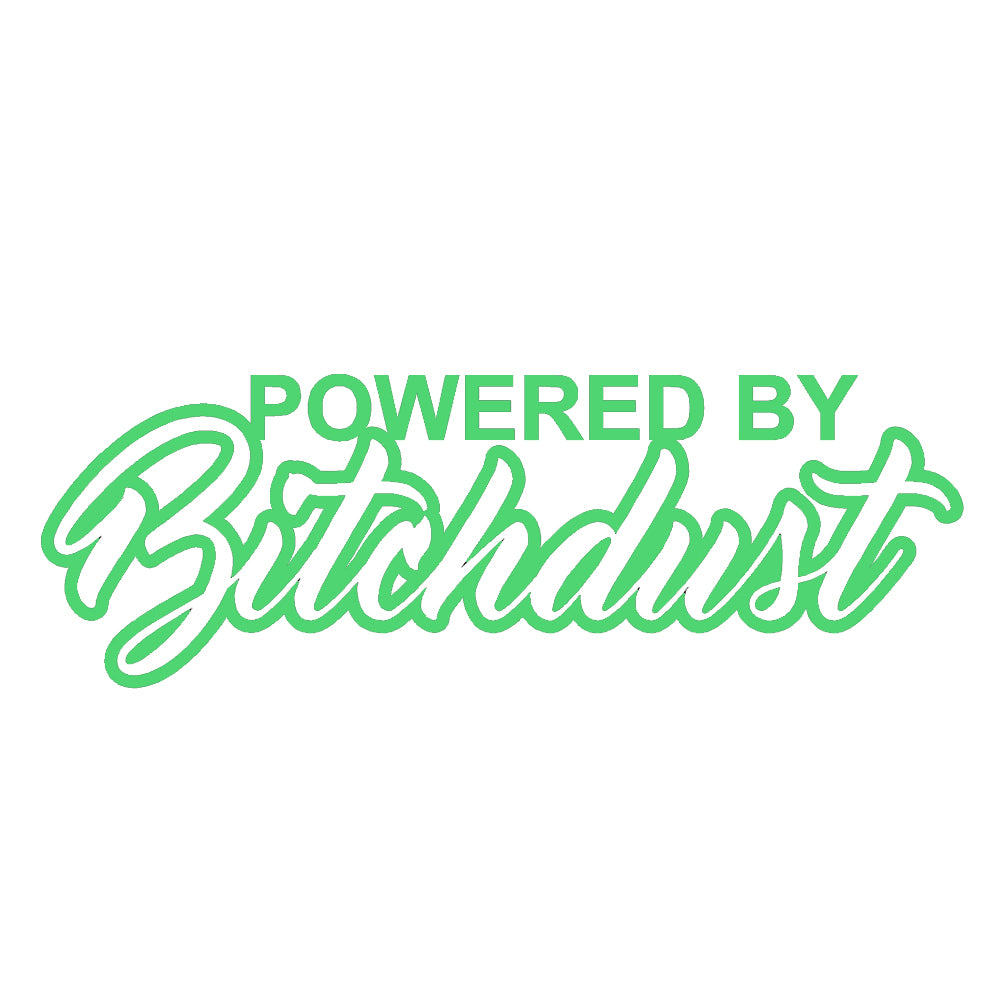Powered by Bitchdust V2 Single Color Transfer Type Decal