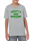 Hopatcong Short Sleeve Tee w/ Property of Hopatcong Logo Graphic Design Shirt