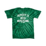 Hopatcong Short Sleeve Cyclone Tyedye Tee w/ Property of Hopatcong Logo Graphic Design Shirt