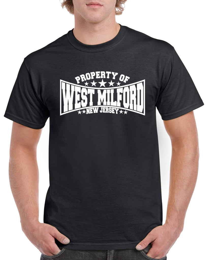 Property of West Milford New Jersey Graphic Transfer Design Shirt