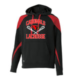 Westwood Cardinals Black/Red Prospect Hoodie w/ 2 color Cardinals Crossed Sticks Design on Front.