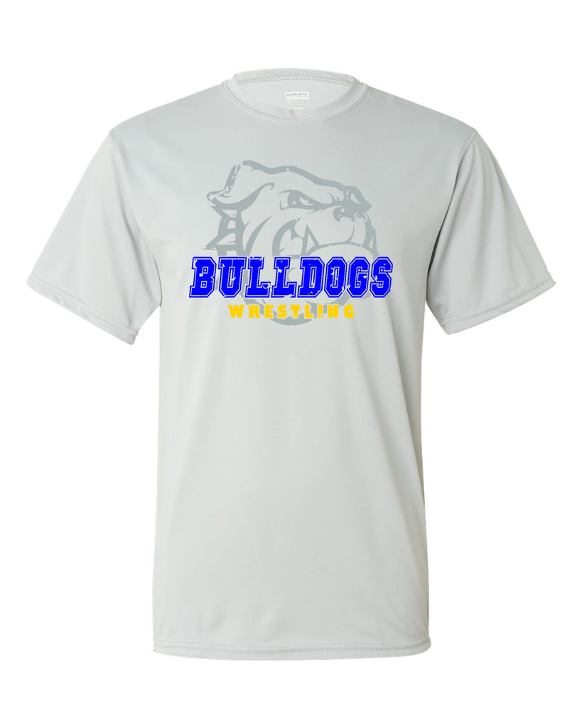 Butler Wrestling Silver Performance Short Sleeve Tee w/ Large Front 3 Color Design