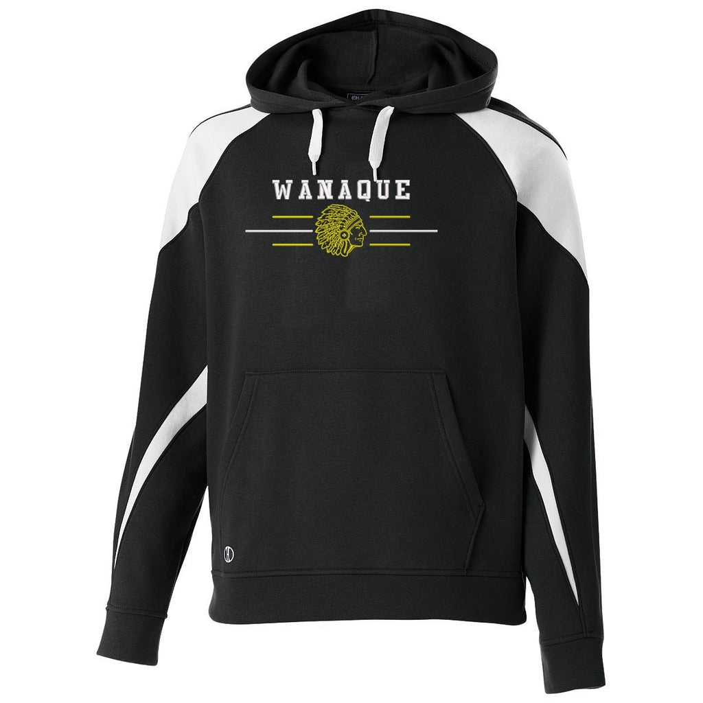 WANAQUE Prospect Hoodie w/ Embroidered Indian Design on Front.
