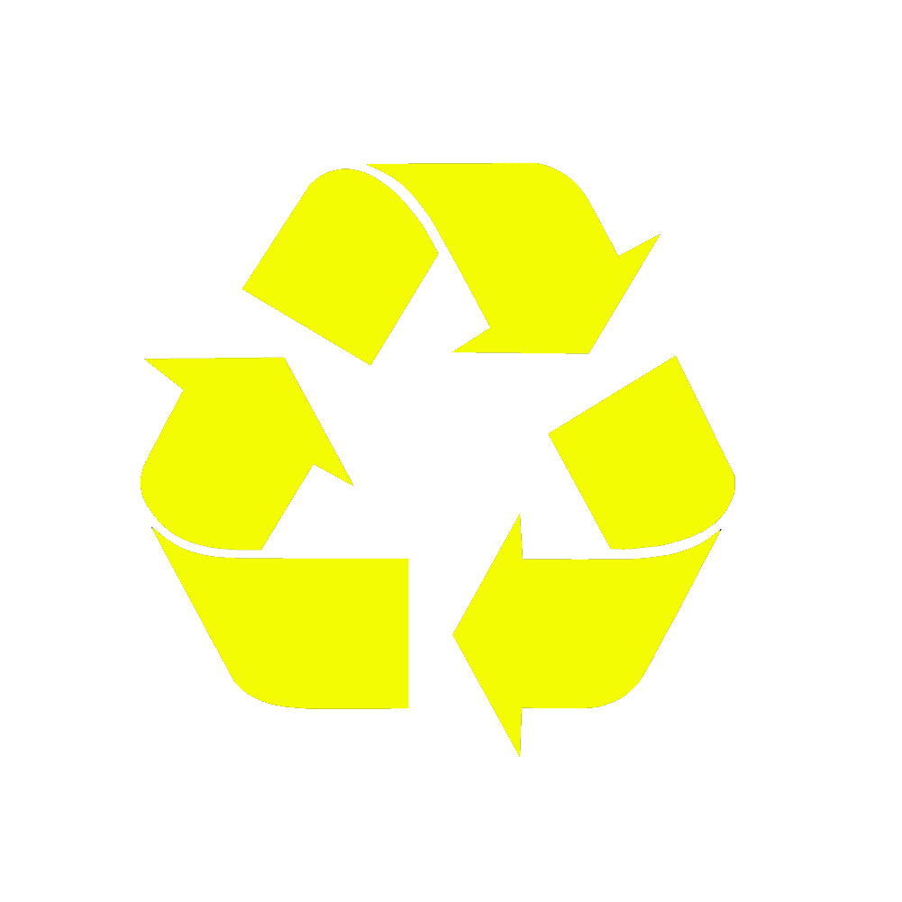 Recycle Symbol V1 Single Color Transfer Type Decal