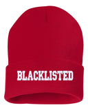 BLACKLISTED Embroidered Cuffed Beanie Hat