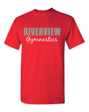 Riverview Gymnastics Short Sleeve T-Shirt w/ 2 Color Design on Front.