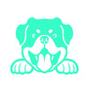 Rottweiler Peeking V1 Single Color Transfer Type Decal