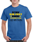 Stay Six Feet Back Funny Graphic Design Shirt