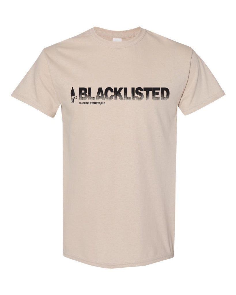 Black Bag Resources - Blacklisted - 1 Color Printed Graphic Tee