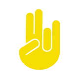 Shocker Hand Solid V1 Single Color Transfer Type Decal