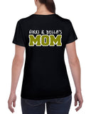 WMCC Black Short Sleeve Tee w/ WMCC Logo on Front & MOM on back.