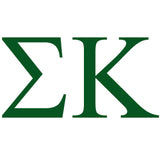 SIGMA KAPPA Greek Lettering Single Color Transfer Type Decal