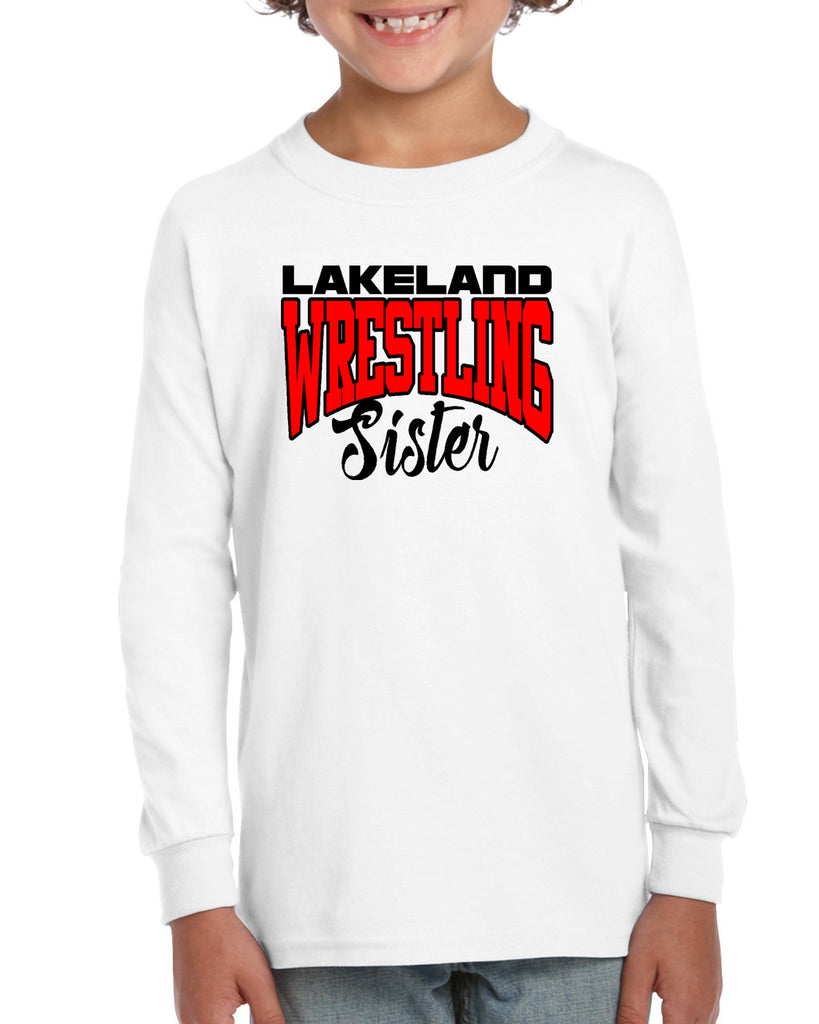 Lakeland Wrestling Heavy Blend Shirt w/ Lakeland Wrestling Sister logo on Front.