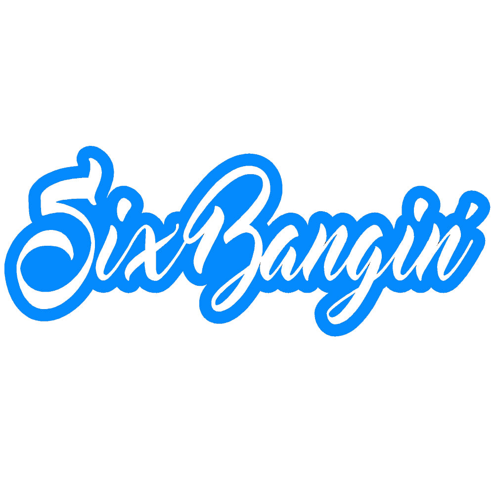 Six Bangin JDM Tuner Single Color Transfer Type Decal