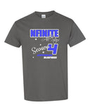 NFINITE Charcoal Short Sleeve Tee w/ SMOKE Season 4 Design Front & Back