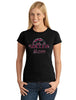 Soccer Mom V1 Spangle Bling Design Shirt