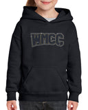 WMCC Black Hoodie w/ WMCC Logo in 3 Color SPANGLE on Front.