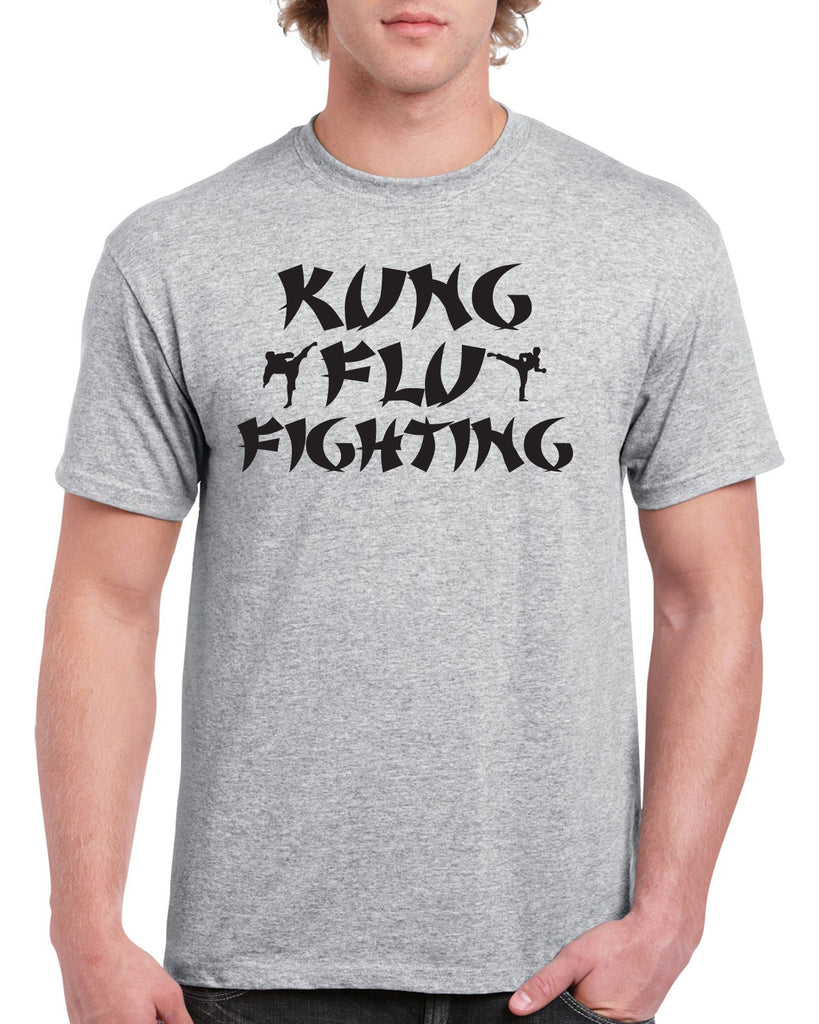 Kung Flu Fighting Funny Graphic Design Shirt