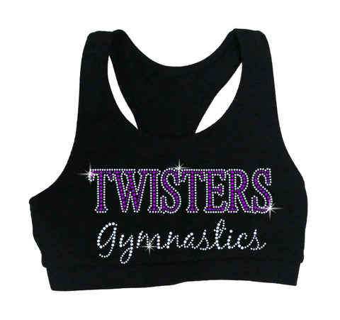 Twisters Gymnastics LAT - Women's Fine Jersey Mash Up Long Sleeve T-Shirt - 3534 w/ Gymnastics Mom Spangle Design
