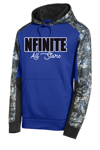 NFINITE Badger Velocity Shorts - 2114 w/ NFINITE All Stars Logo in White on Front.
