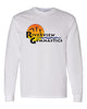 Riverview Gymnastics White Long Sleeve T-Shirt w/ Full Color Sun Design on Front.