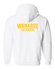 WANAQUE White Heavy Blend FULL-ZIP Hoodie w/ Large WANAQUE School
