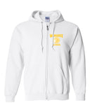 WANAQUE White Heavy Blend FULL-ZIP Hoodie w/ Small WANAQUE School