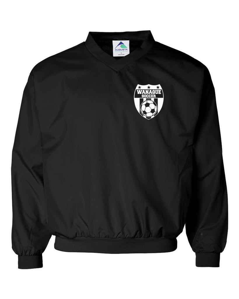 Wanaque Soccer Black Micro Poly Windshirt w/ Small Wanaque Soccer Logo on Left Chest