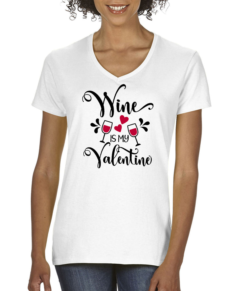 WINE IS MY VALENTINE 828 Graphic Design Shirt