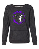 Twisters Black Women's Glitter French Terry Sweatshirt - 8867 w/ 2 Color Circle Design on Front.