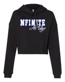 NFINITE ITC Women's Lightweight Cropped Hooded Sweatshirt w/ NFINITE All Stars 2 Color Logo on Front.