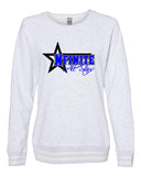 NFINITE Women's Relay Crewneck Sweatshirt - 8652 w/ NFINITE Side Star Logo on Front.
