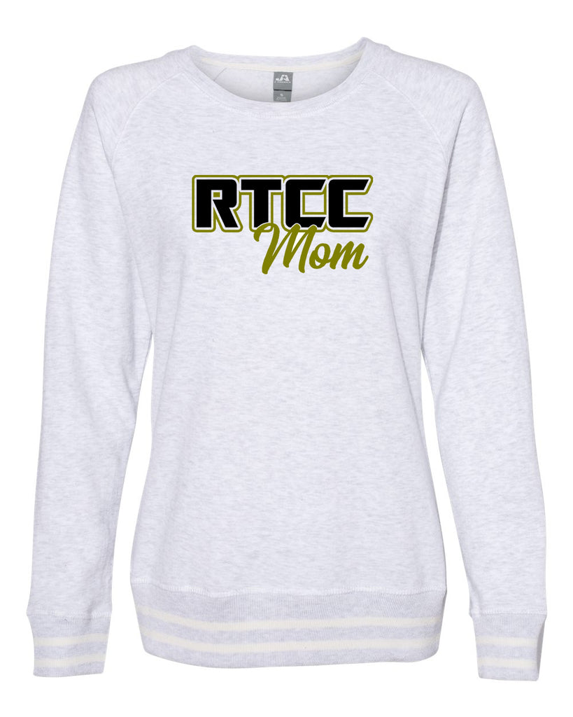 RTCC - Women's Relay Crewneck Sweatshirt - 8652 with 2 color RTCC Mom Design on Front.