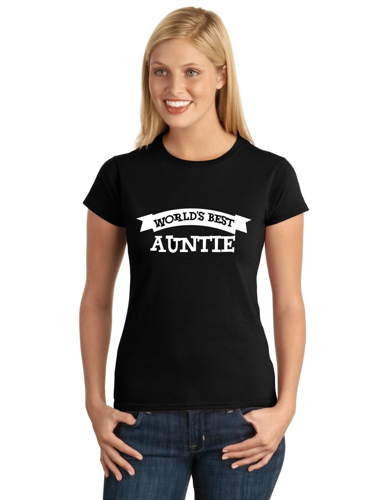 World's Best AUNTIE Graphic Transfer Design Shirt