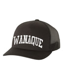 Wanaque School Yupoong - Classics™ Five-Panel Retro Trucker Cap - 6506 w/ WANAQUE ARC logo on Front.