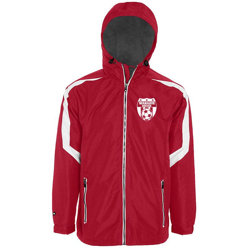 Wanaque Soccer Charger Jacket Full Zip w/ Small Wanaque Soccer Logo on Left Chest