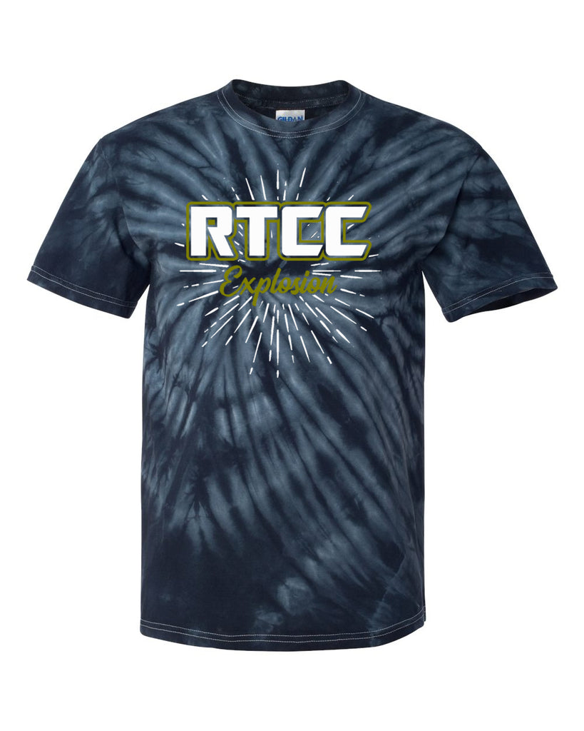 RTCC Short Sleeve Cyclone Tyedye Tee w/ 2 Color Burst Design on Front.