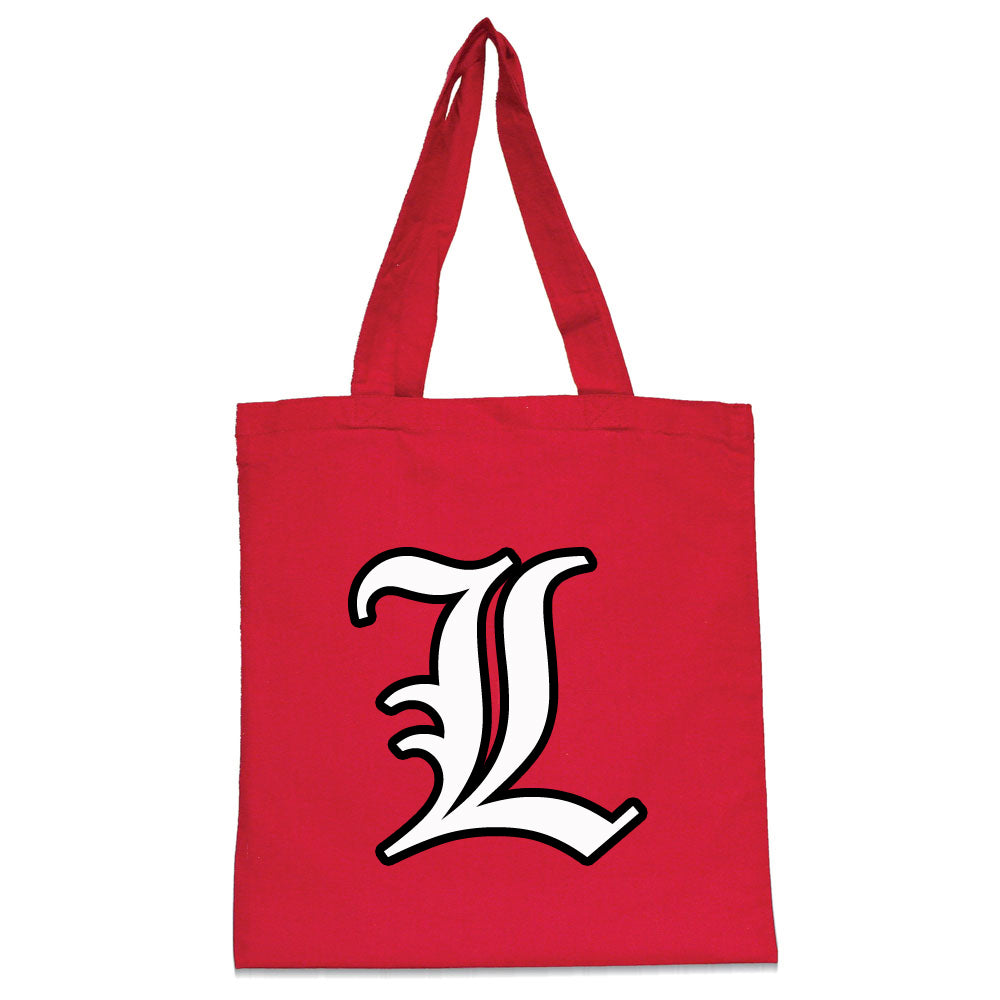"Tote Bag w/ Large Front Old English Lancer ""L"" Logo Graphic"