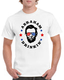 Abraham Drinkin 4th of July Funny Graphic Design Shirt